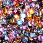JW12700 Glass Faceted Rhinestone Flat Round Beads, Grade A (2.8mm) - approx 50 - Mixed Colours